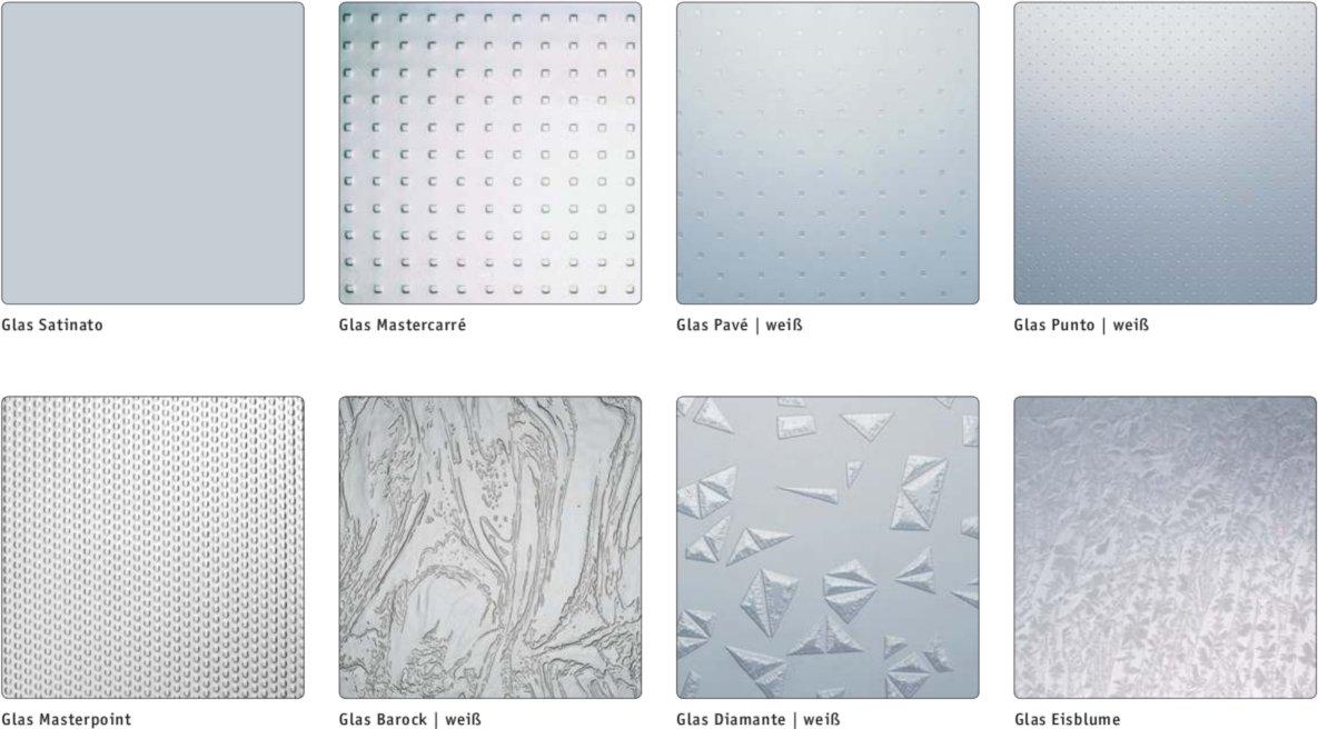 Ornamentgläser für Kunststoff-Fenster