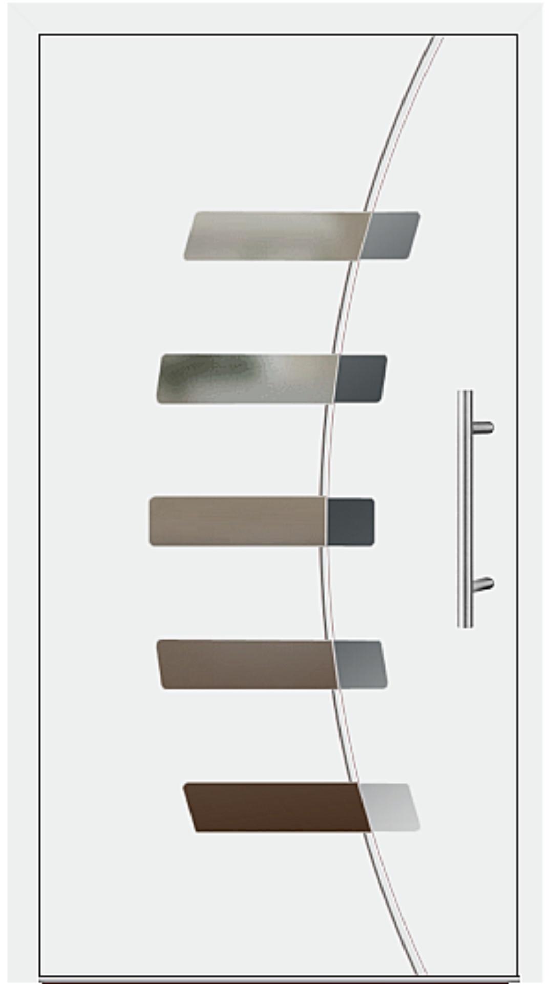 Aluminium Haustür Modell 6828-57 weiß