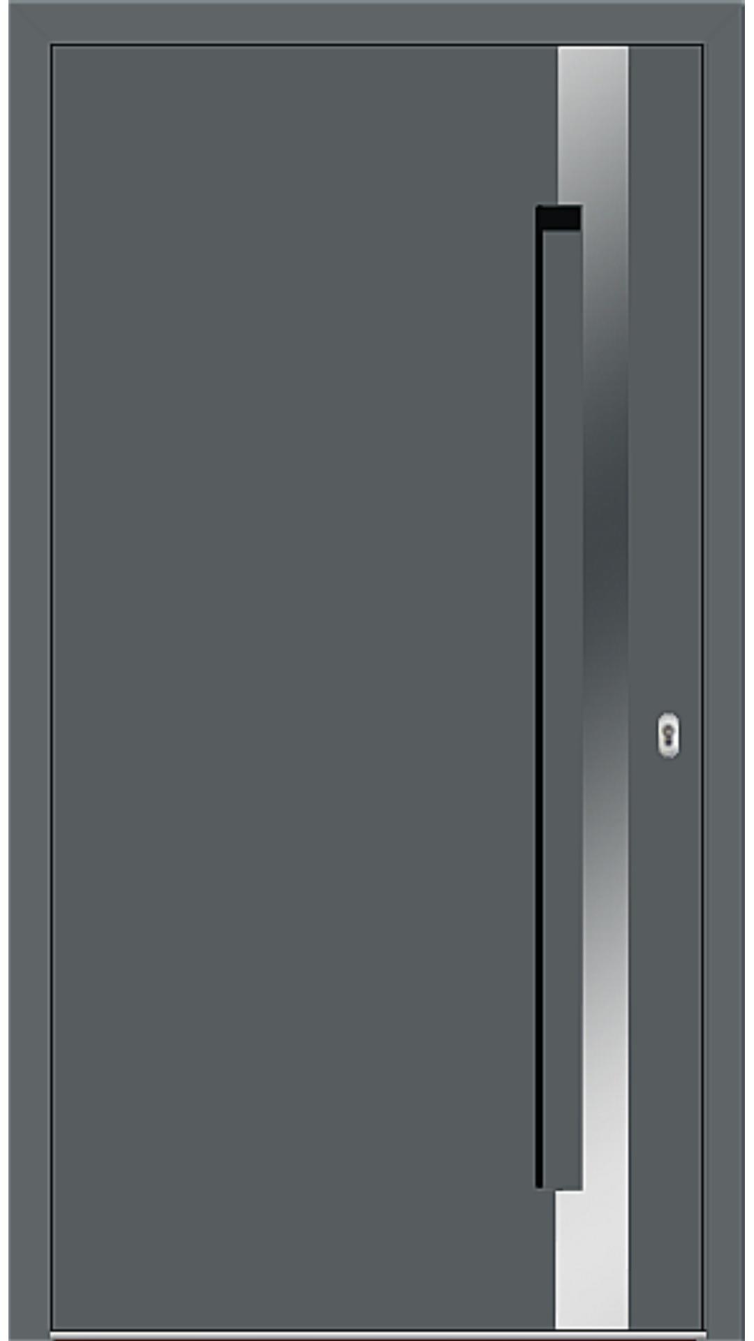 Aluminium Haustür Modell 6974-40 basaltgrau