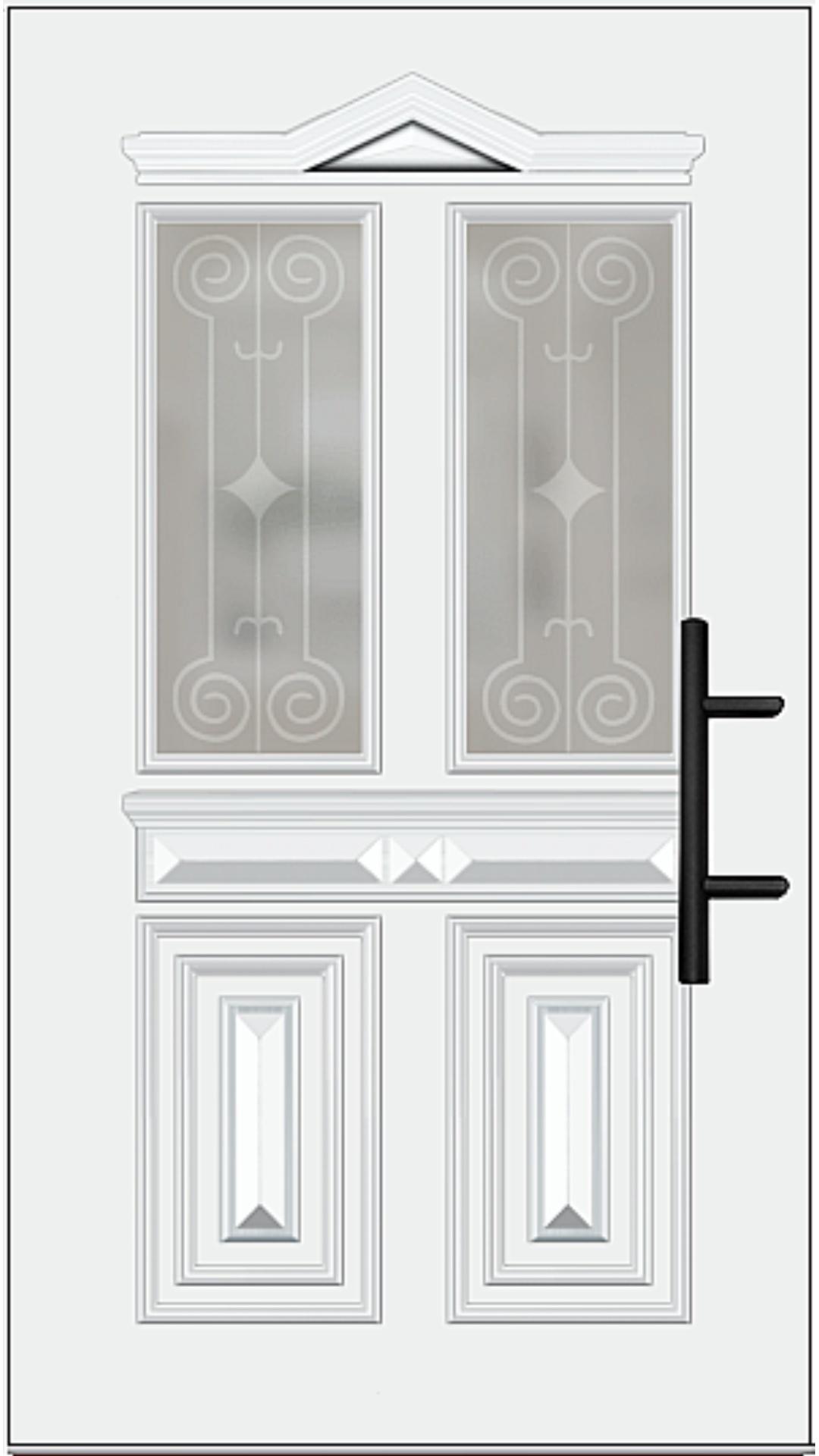Holz Haustür Modell 7050 weiß