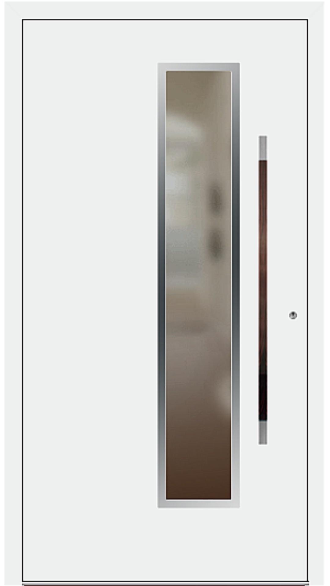 PaXentree Aluminium Haustür M01231 verkehrsweiß