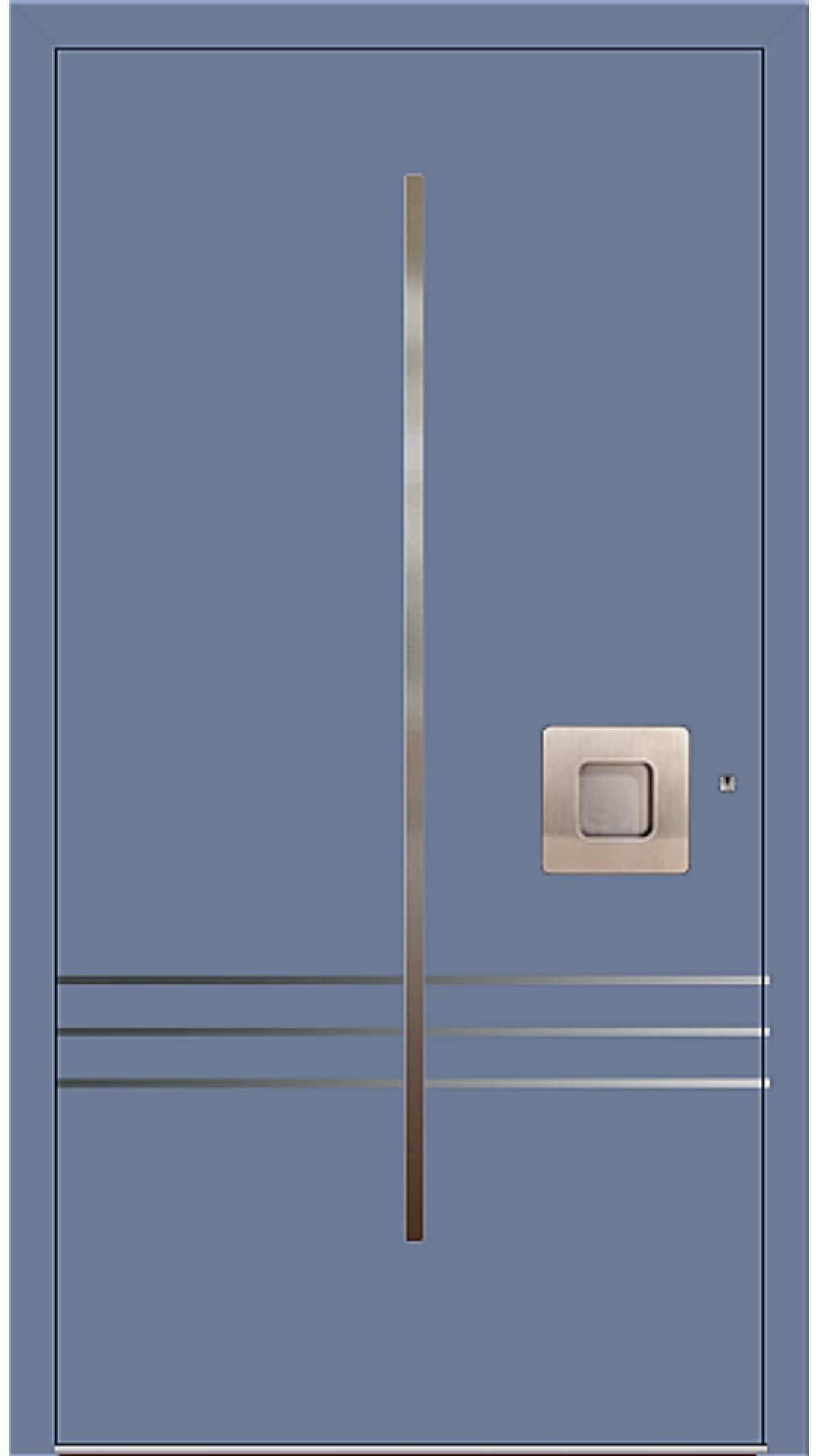 PaXentree Aluminium Haustür M02231 taubenblau