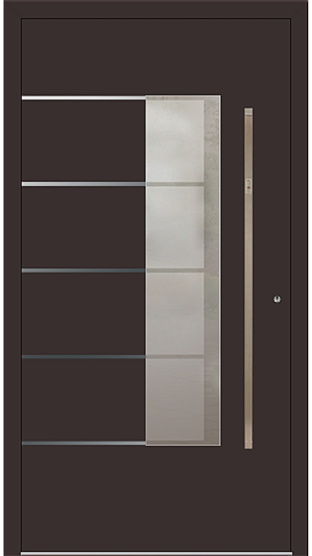 PaXentree Aluminium Haustür M02551 schokoladenbraun