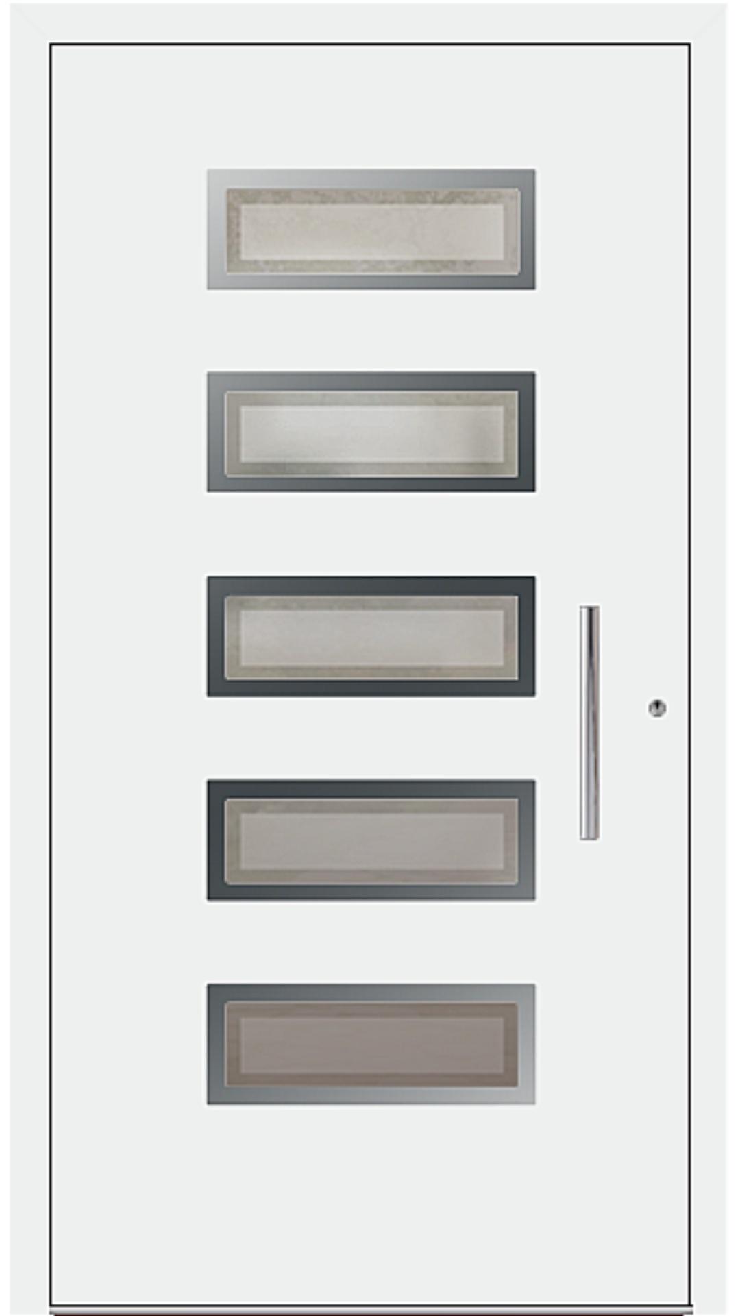PaXentree Aluminium Haustür M05501 verkehrsweiß