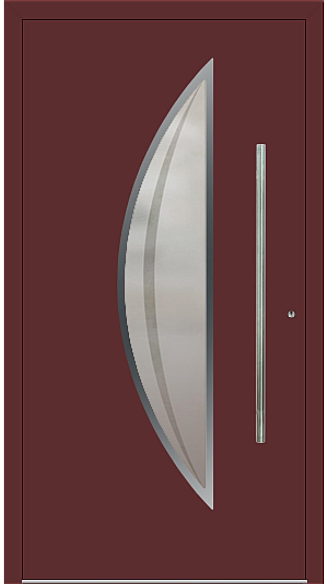PaXentree Aluminium Haustür M09111 purpurrot