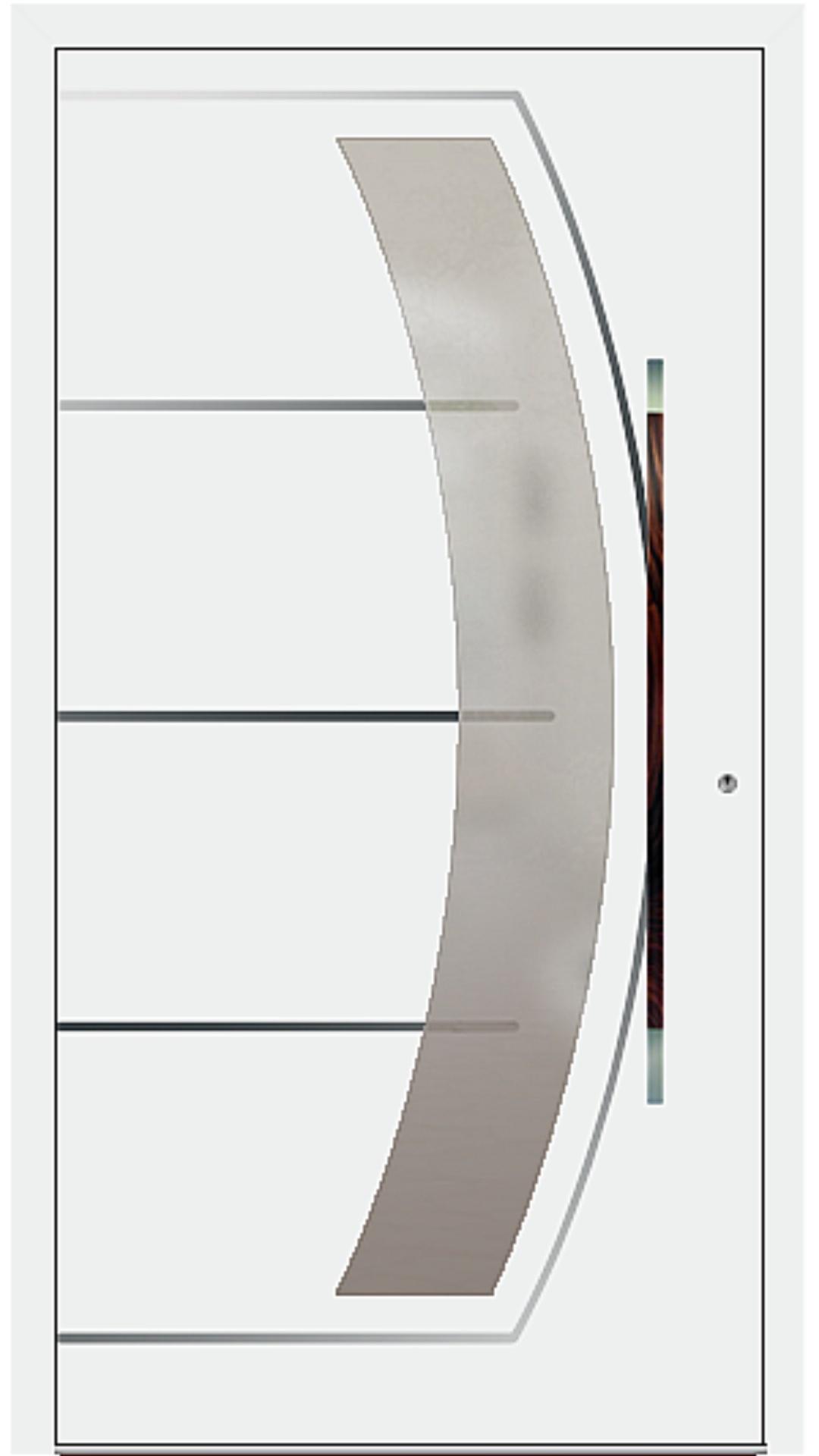 PaXentree Aluminium Haustür M10201 verkehrsweiß
