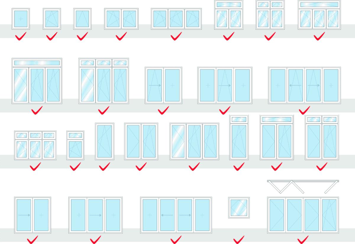 Fenster Bauformen PaXabsolut Neo