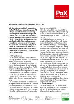 Vorschau PaX AG AGB