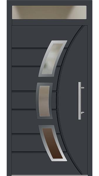 Aluminium Haustür Modell 6437-72 anthrazitgrau Haustüren mit Oberlicht
