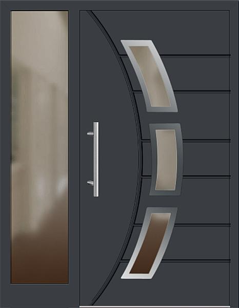 aluminium haustren mit seitenteil amazing details zu aluminium haustr alu haustr haustren ht fa. Black Bedroom Furniture Sets. Home Design Ideas