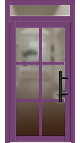 holz haust r modell 2100 singalviolett mit oberlicht. Black Bedroom Furniture Sets. Home Design Ideas
