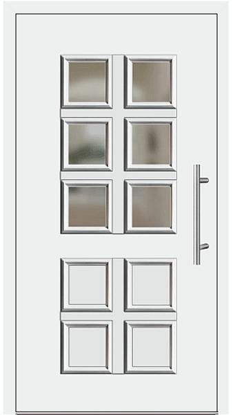kunststoff haust r modell 205 10 wei. Black Bedroom Furniture Sets. Home Design Ideas