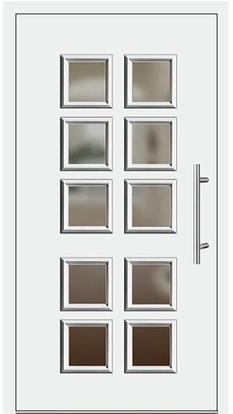 kunststoff haust r modell 205 20 wei. Black Bedroom Furniture Sets. Home Design Ideas