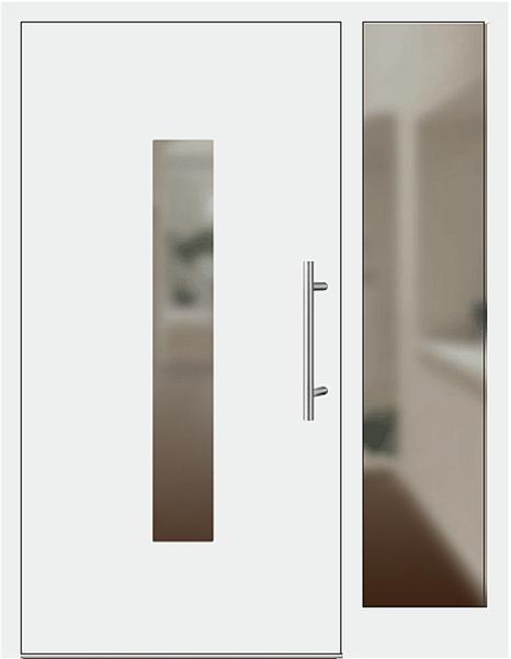 kunststoff haust r modell 21 1 e wei mit seitenteil rechts. Black Bedroom Furniture Sets. Home Design Ideas