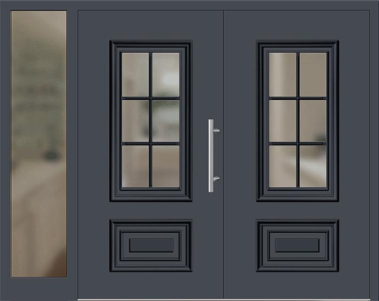 kunststoff haust r modell 217 15 graphitgrau zweifl gelig mit seitenteil links. Black Bedroom Furniture Sets. Home Design Ideas