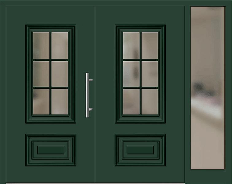 kunststoff haust r modell 217 15 moosgr n zweifl gelig mit seitenteil rechts. Black Bedroom Furniture Sets. Home Design Ideas