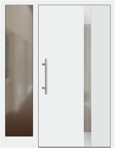 kunststoff haust r modell 229 1 e wei mit seitenteil links. Black Bedroom Furniture Sets. Home Design Ideas
