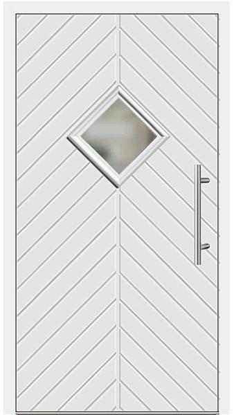 kunststoff haust r modell 23 62 wei. Black Bedroom Furniture Sets. Home Design Ideas