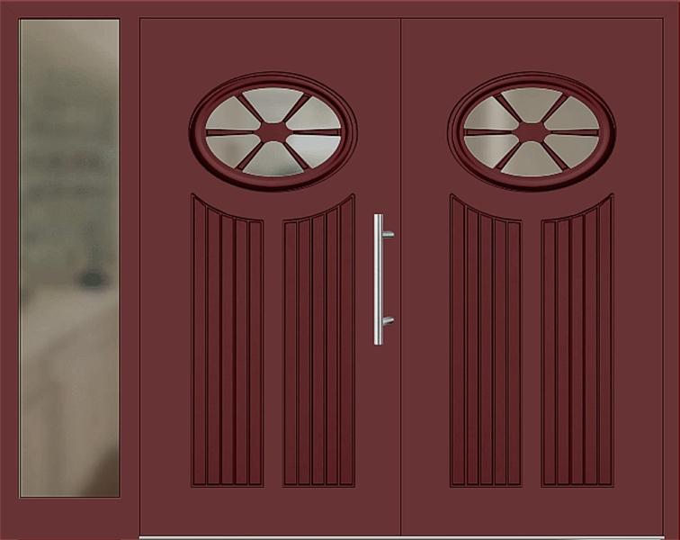 kunststoff haust r modell 25 11 braunrot haust ren. Black Bedroom Furniture Sets. Home Design Ideas