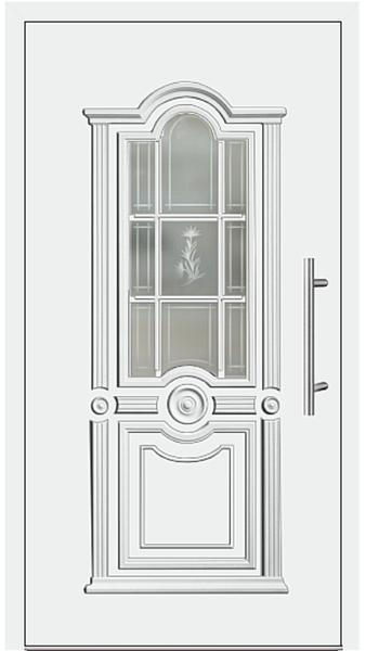 kunststoff haust r modell 302 15 wei. Black Bedroom Furniture Sets. Home Design Ideas
