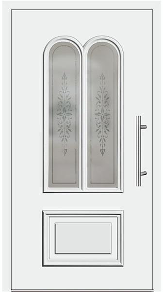 kunststoff haust r modell 408 10 wei. Black Bedroom Furniture Sets. Home Design Ideas