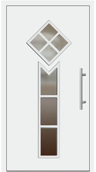kunststoff haust r modell 6443 25 wei. Black Bedroom Furniture Sets. Home Design Ideas