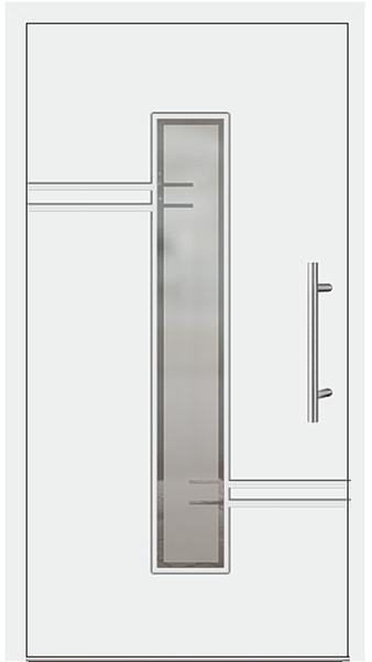 kunststoff haust r modell 6814 52 wei. Black Bedroom Furniture Sets. Home Design Ideas