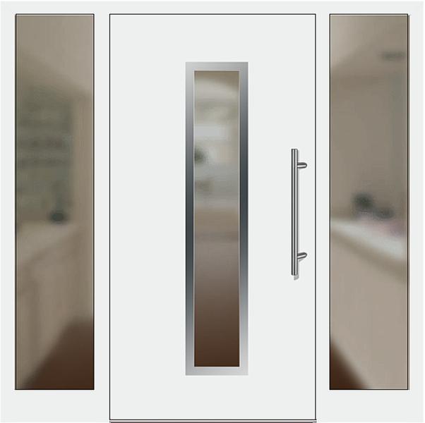 kunststoff haust r modell 6921 70 wei mit seitenteil links und rechts. Black Bedroom Furniture Sets. Home Design Ideas