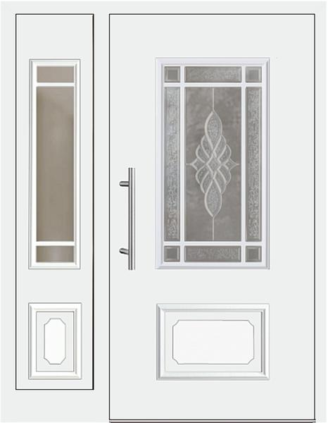 Kunststoff Haustur Modell Johanna1 Weiss Mit Seitenteil Links