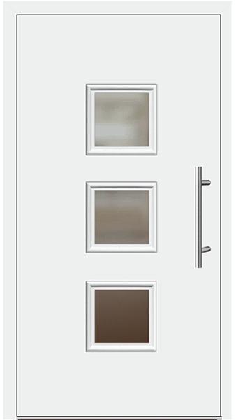 Kunststoff Haustür Modell 6418 60 Weiß