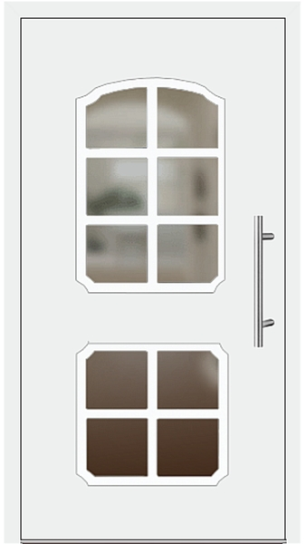 kunststoff haust r modell monika2 wei. Black Bedroom Furniture Sets. Home Design Ideas