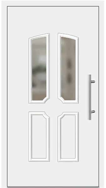 kunststoff haust r modell ulla1 wei. Black Bedroom Furniture Sets. Home Design Ideas