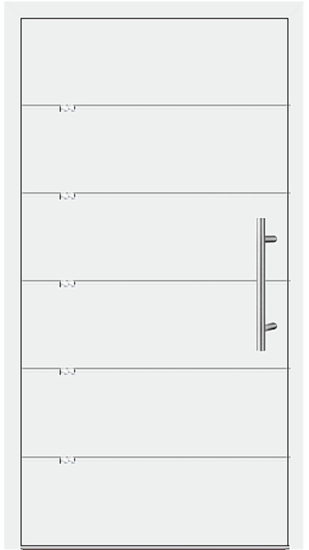 Aluminium Haustür Modell 1216-40 weiß