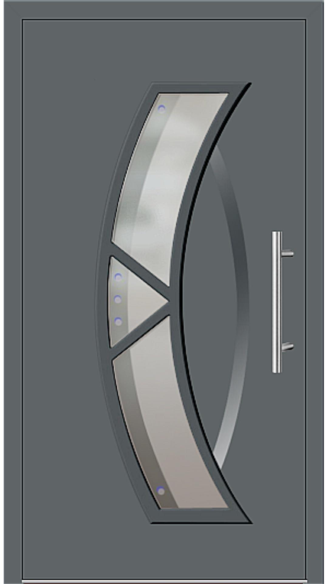 Aluminium Haustür Modell 181-67 basaltgrau