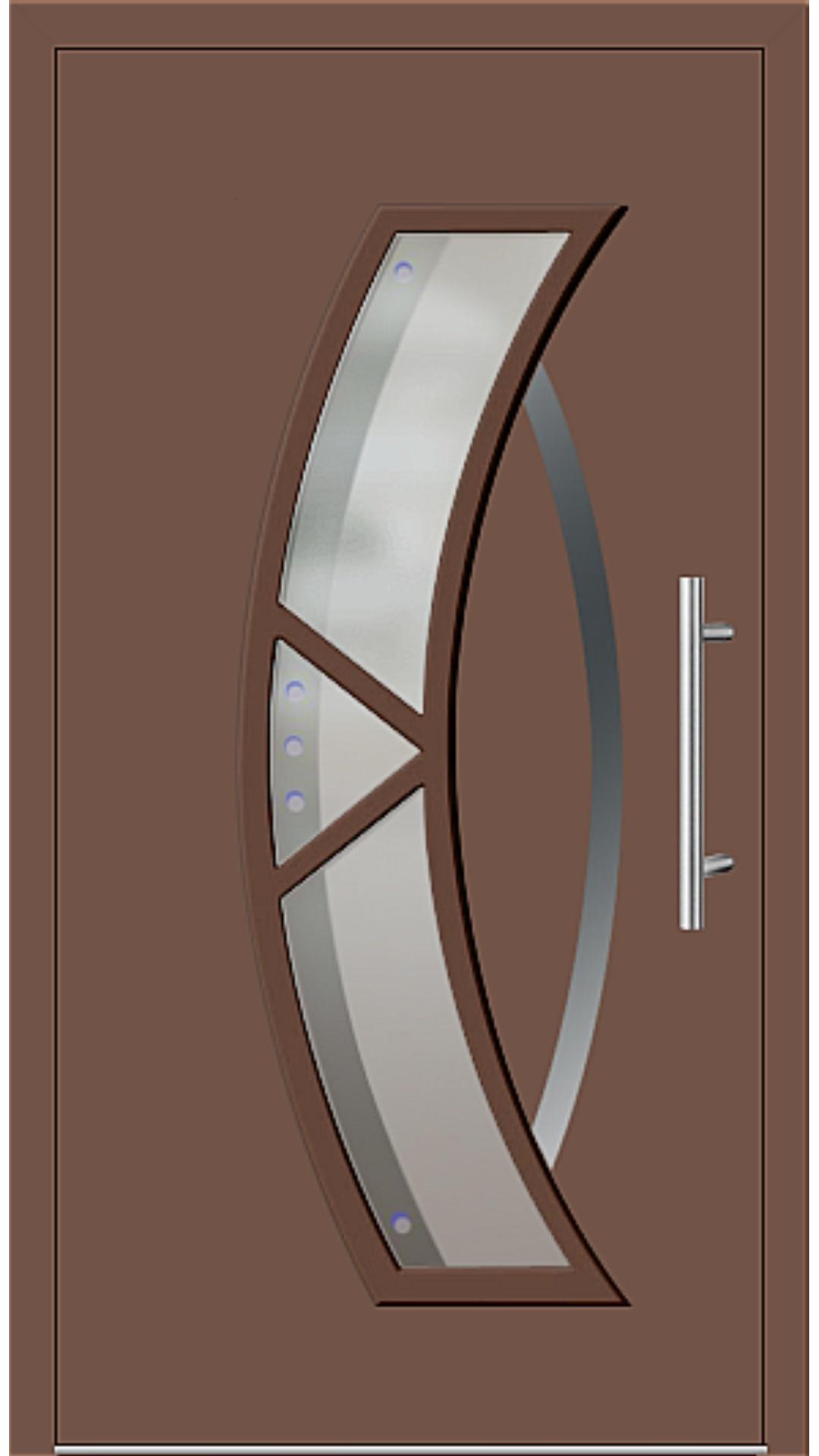 Aluminium Haustür Modell 181-67 lehmbraun