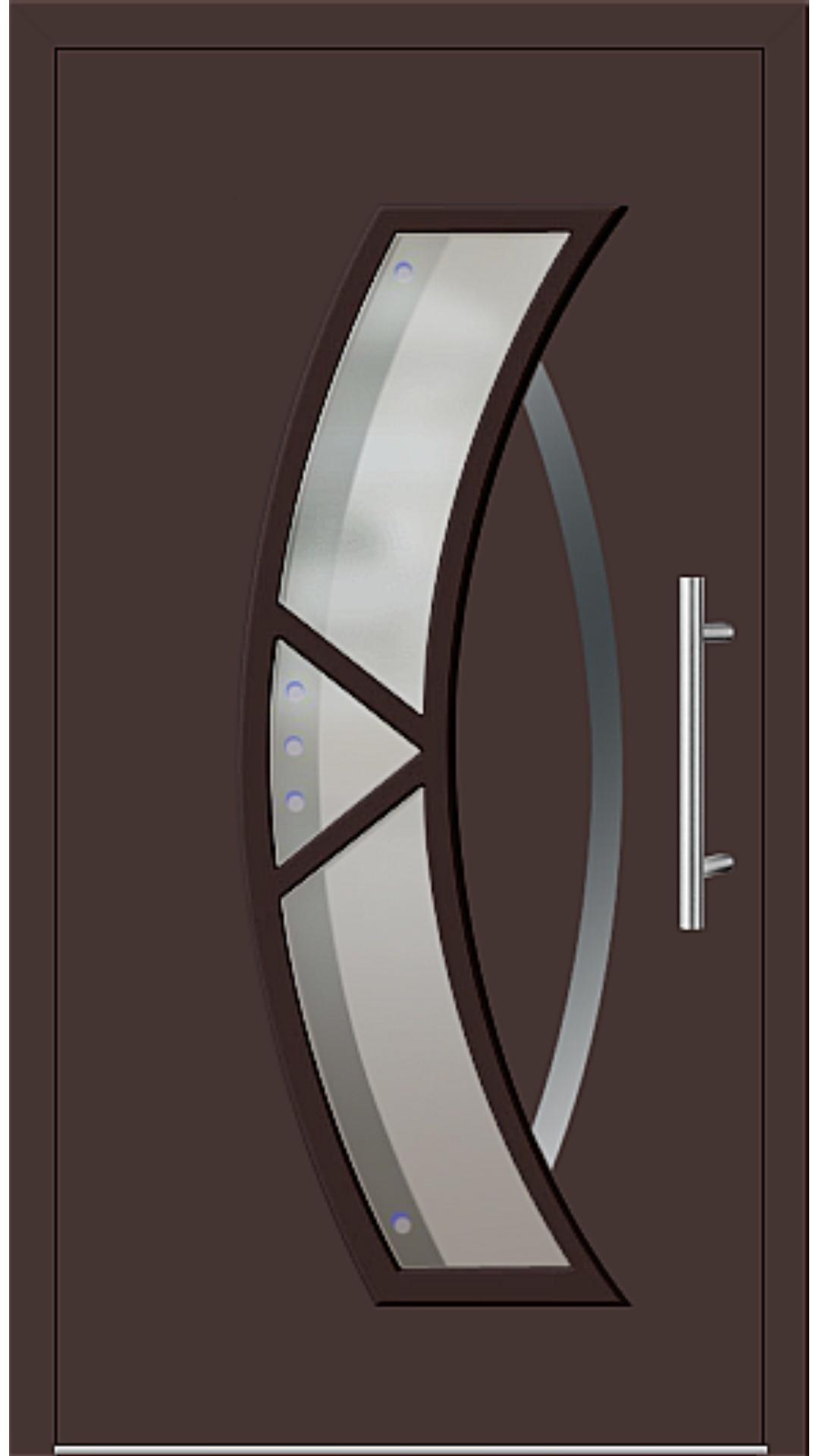 Aluminium Haustür Modell 181-67 mahagonibraun