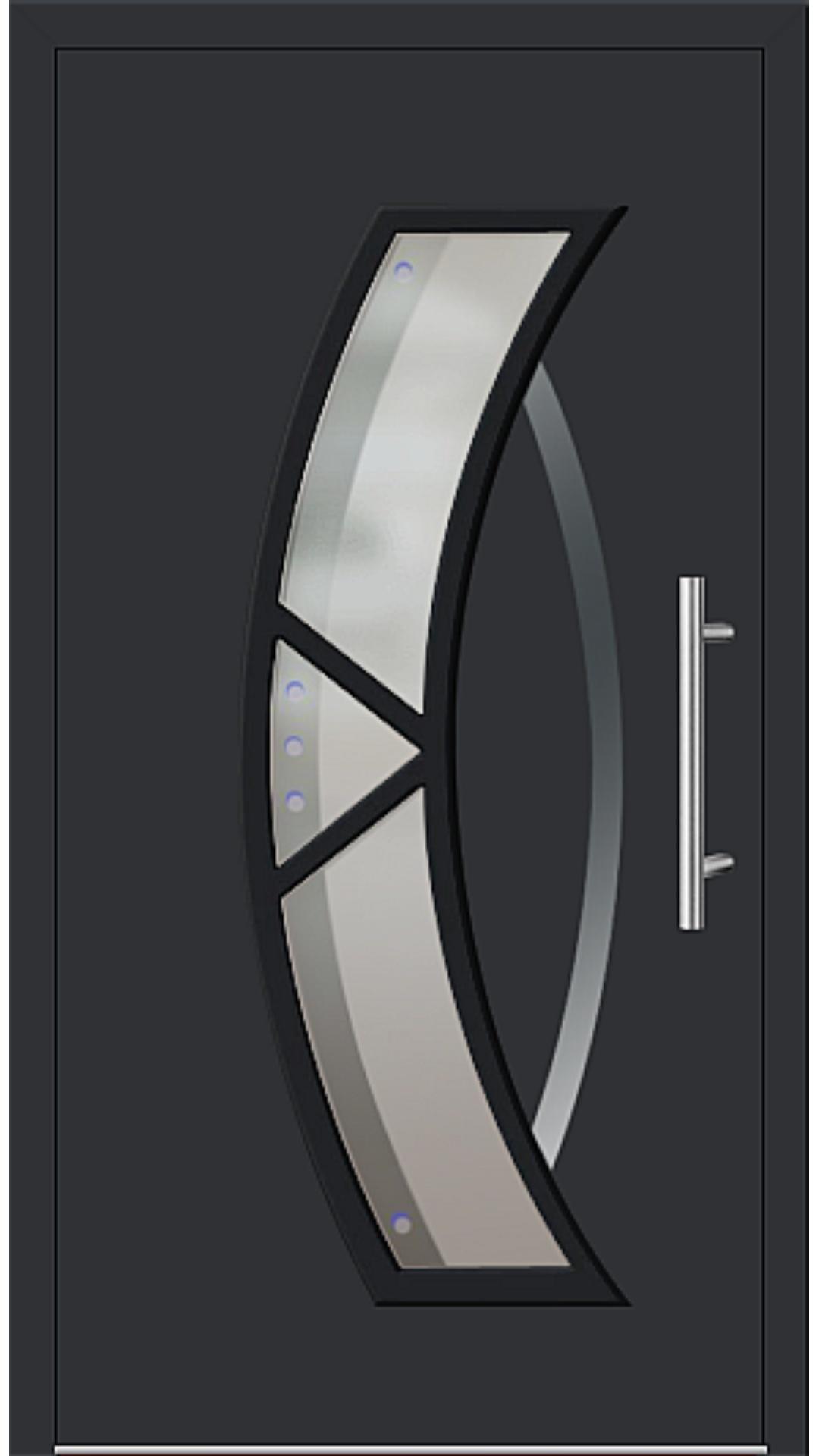 Aluminium Haustür Modell 181-67 schwarz