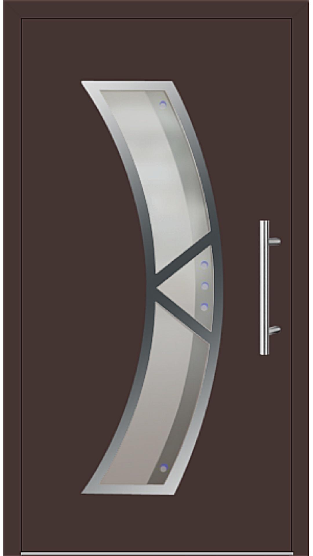 Aluminium Haustür Modell 181-75 mahagonibraun