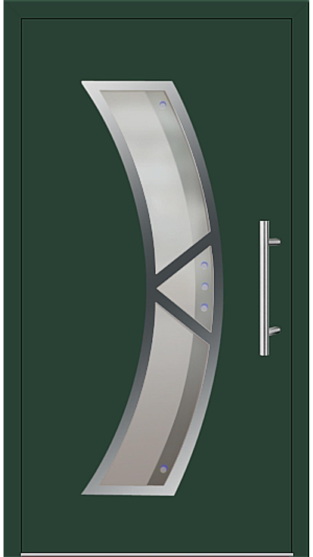 Aluminium Haustür Modell 181-75 moosgrün