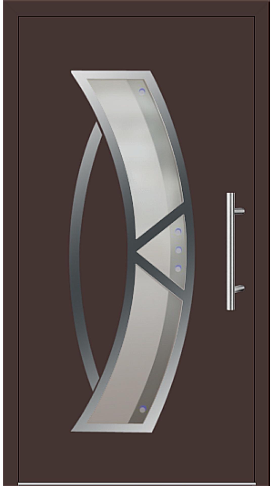 Aluminium Haustür Modell 181-77 mahagonibraun