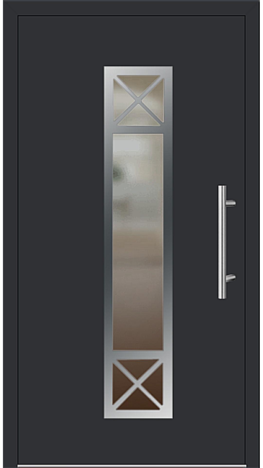 Aluminium Haustür Modell 186-75 schwarz