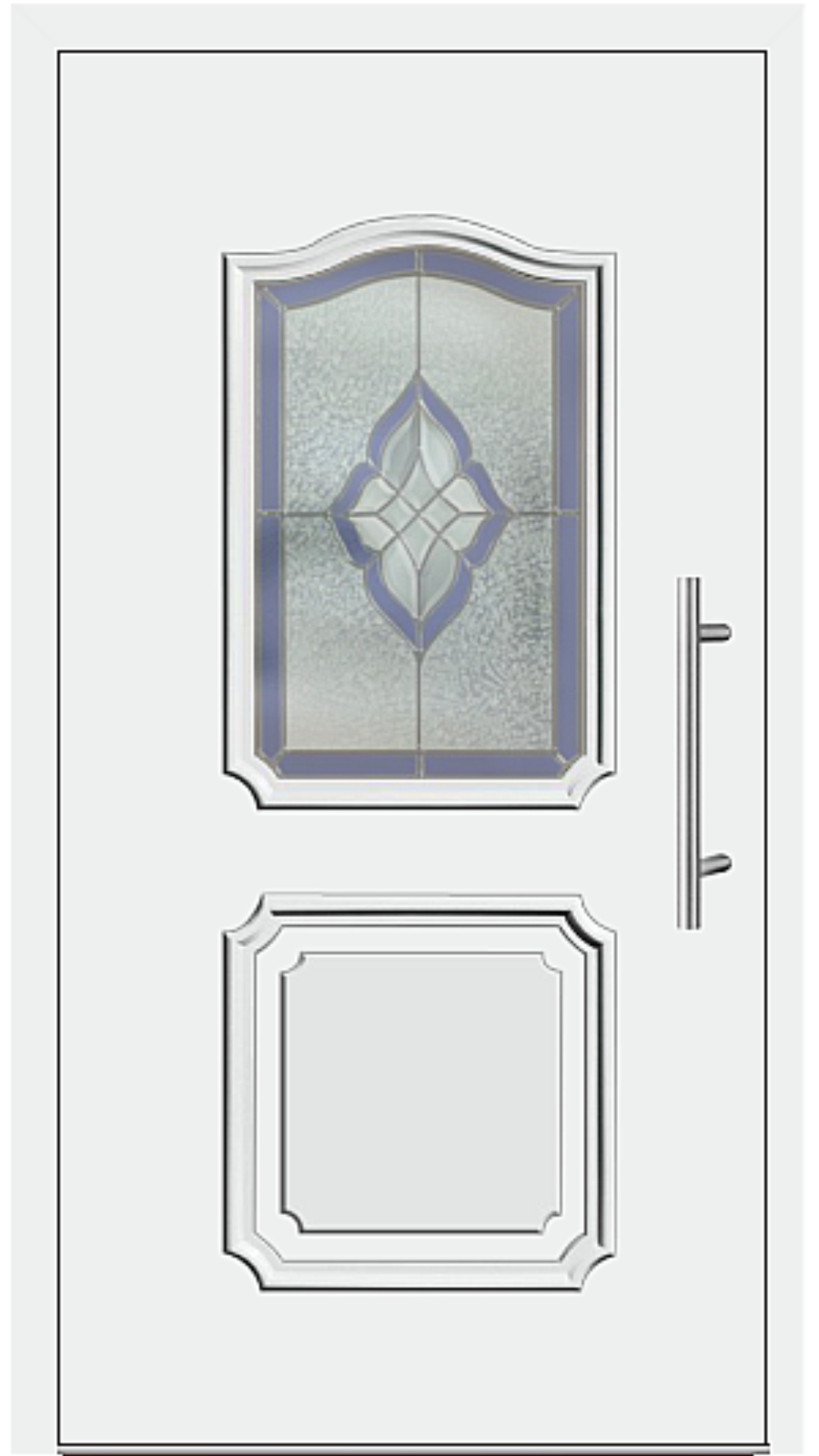 Aluminium Haustür Modell 202-10 weiß