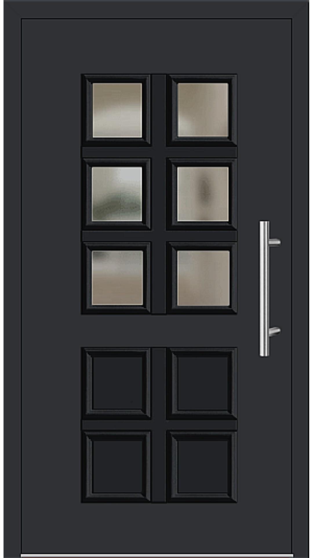 Aluminium Haustür Modell 205-10 schwarz