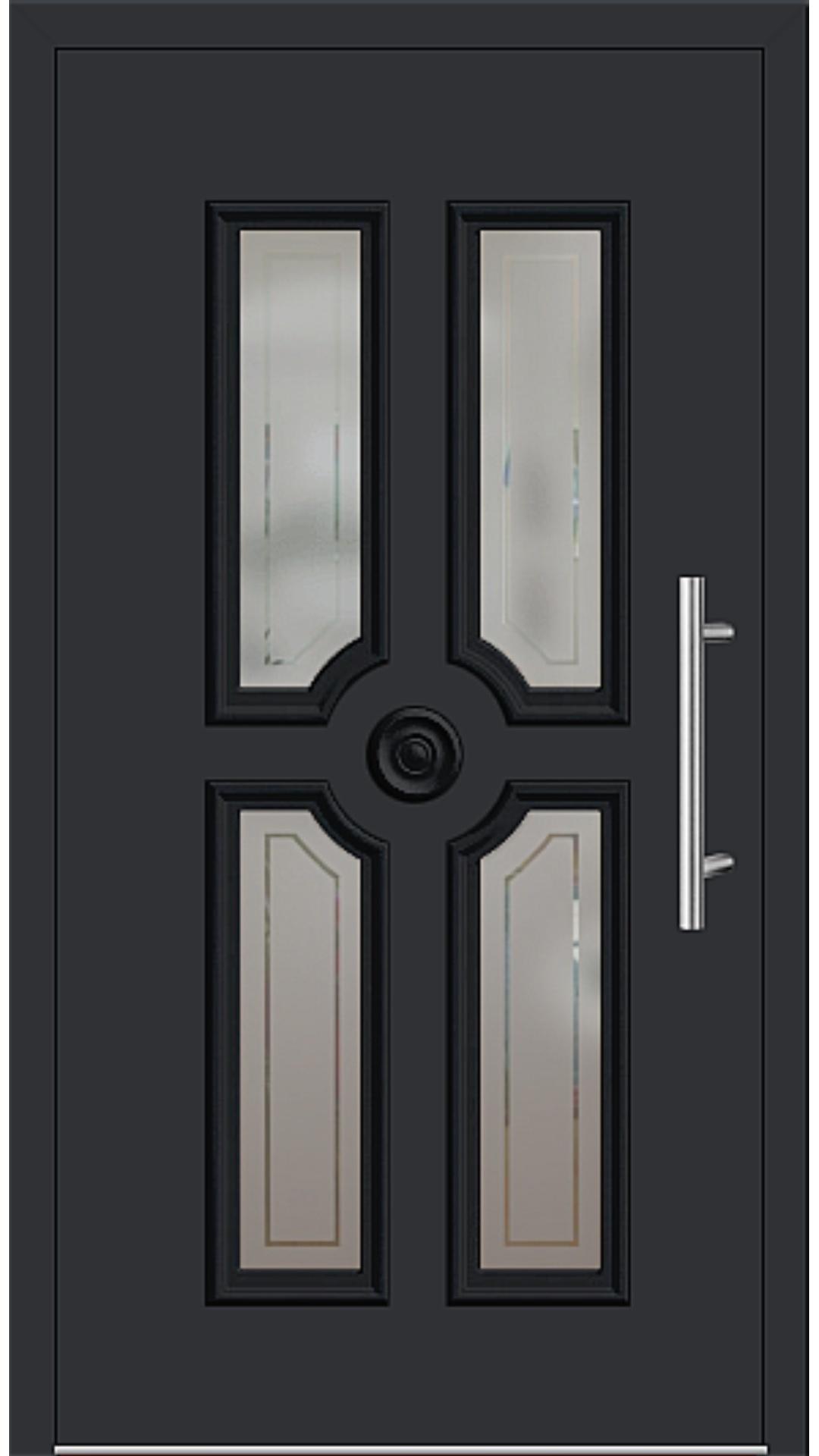 Aluminium Haustür Modell 208-20 schwarz