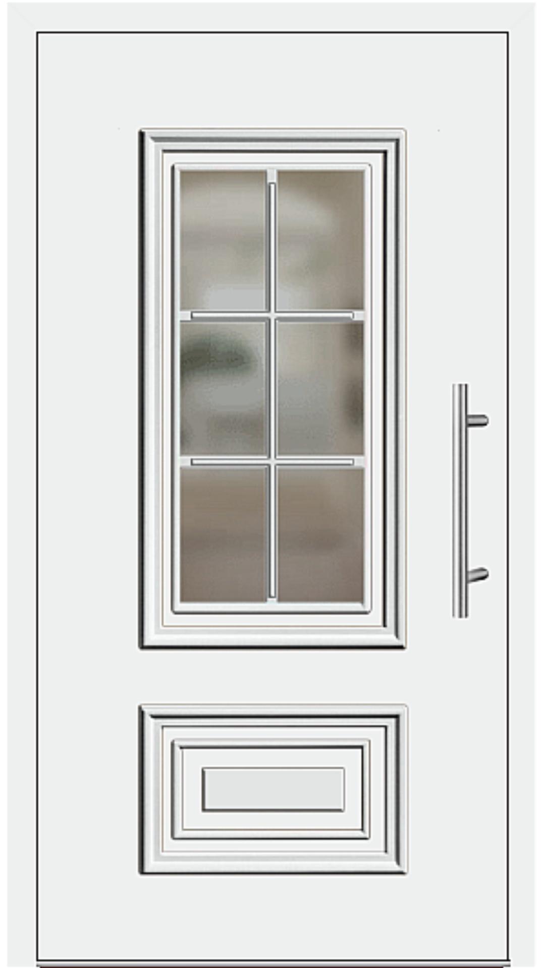 Aluminium Haustür Modell 217-15 weiß