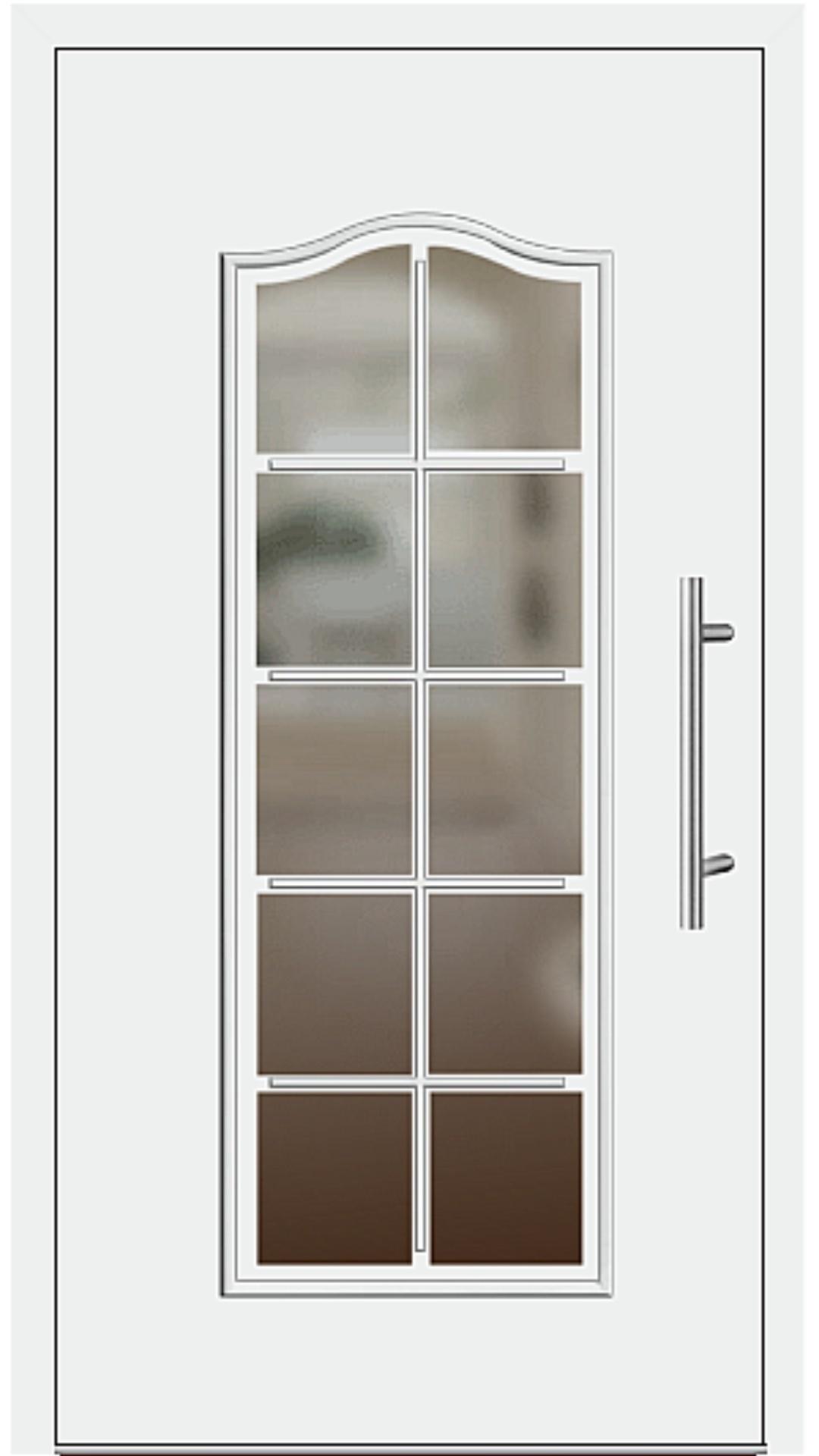 Aluminium Haustür Modell 224-15 weiß