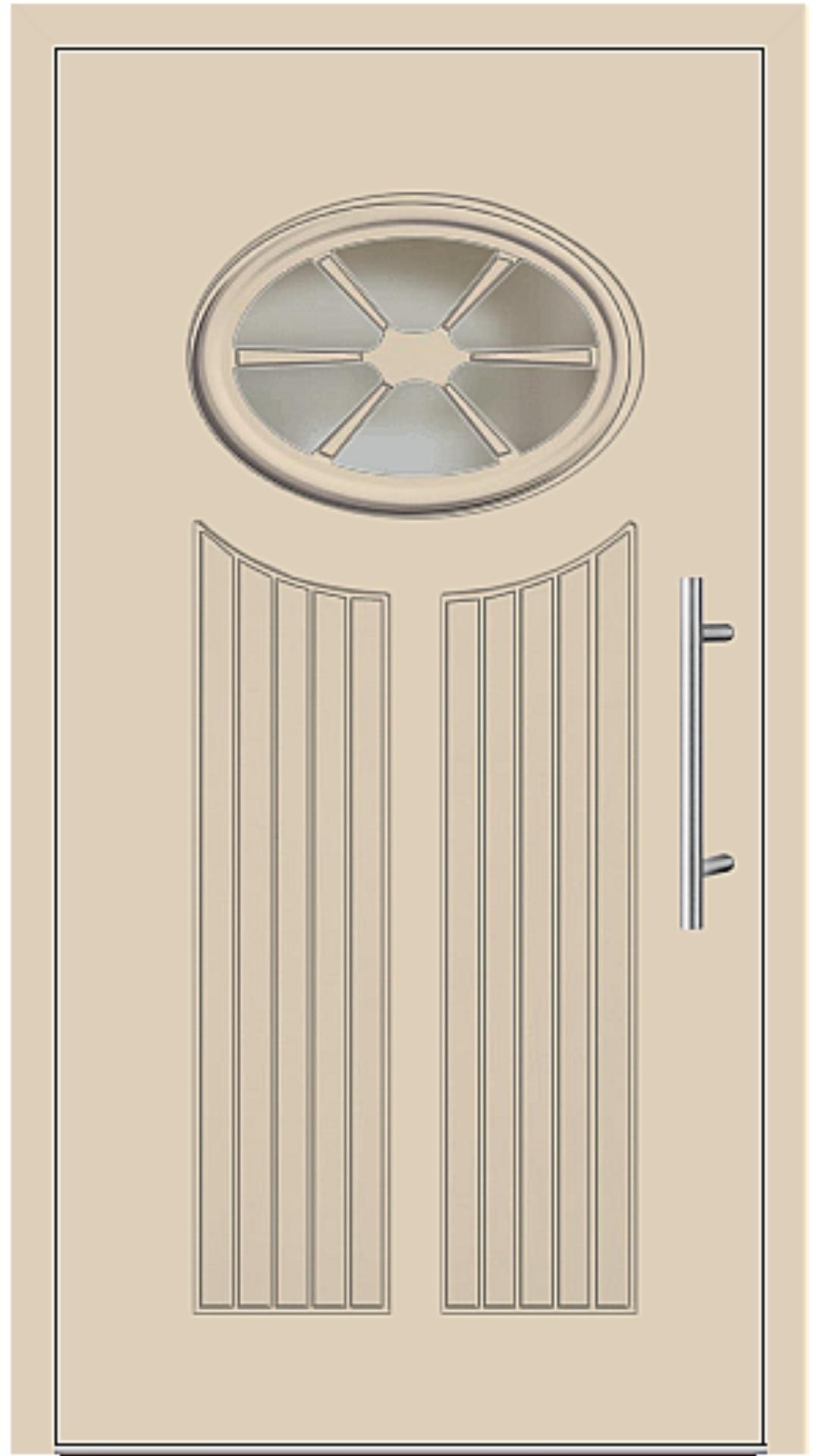 Aluminium Haustür Modell 25-11 beige