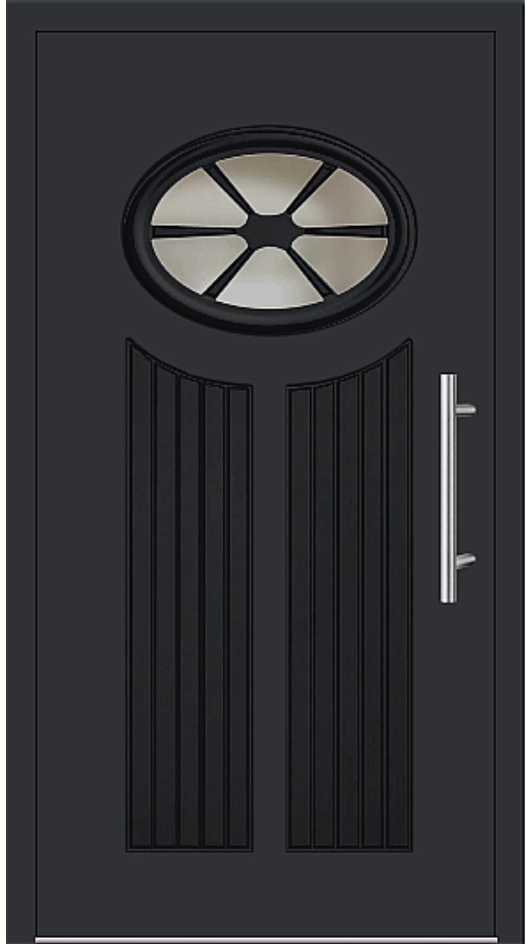 Aluminium Haustür Modell 25-11 schwarz