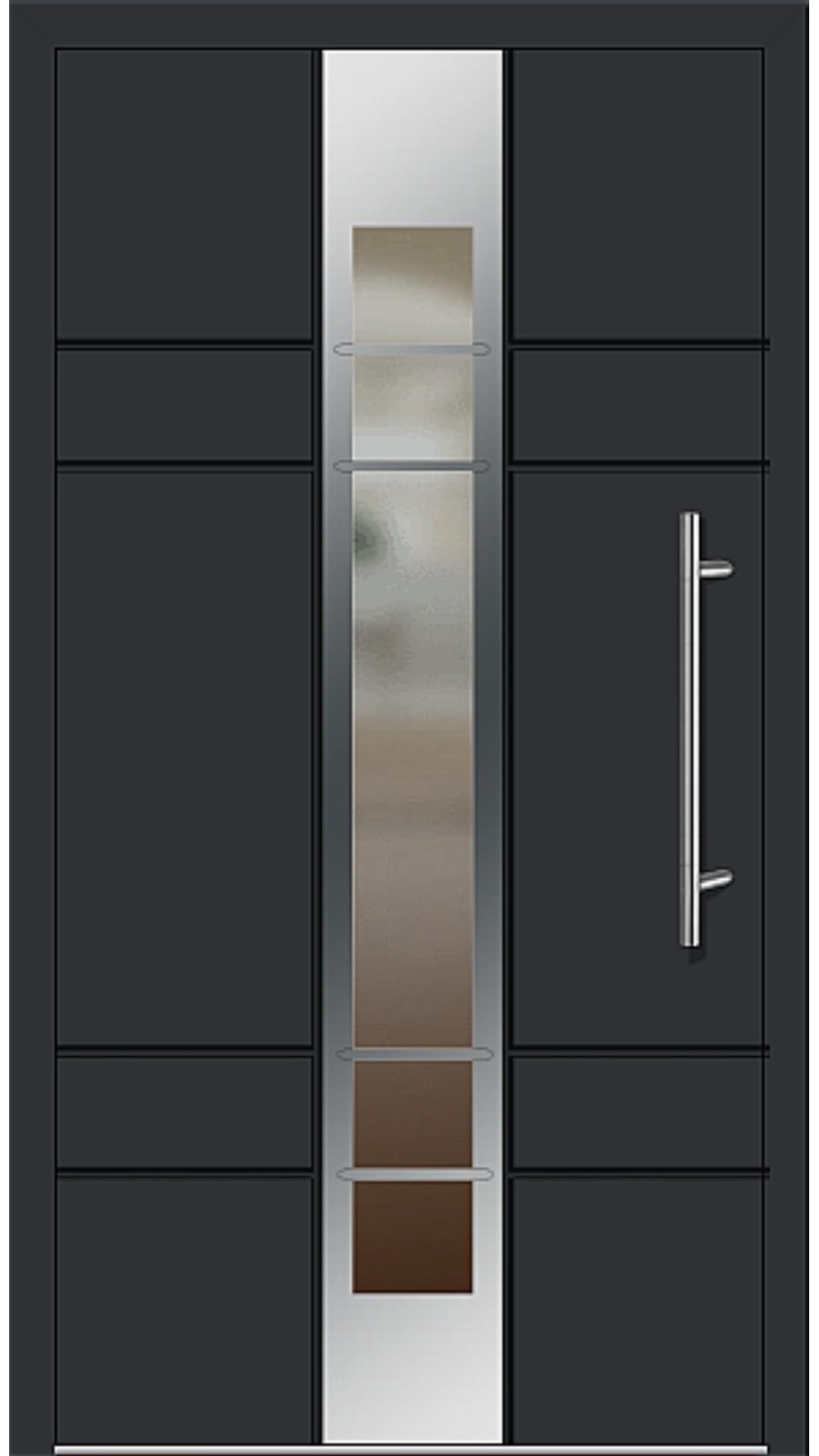 Aluminium Haustür Modell 2700-79 schwarz