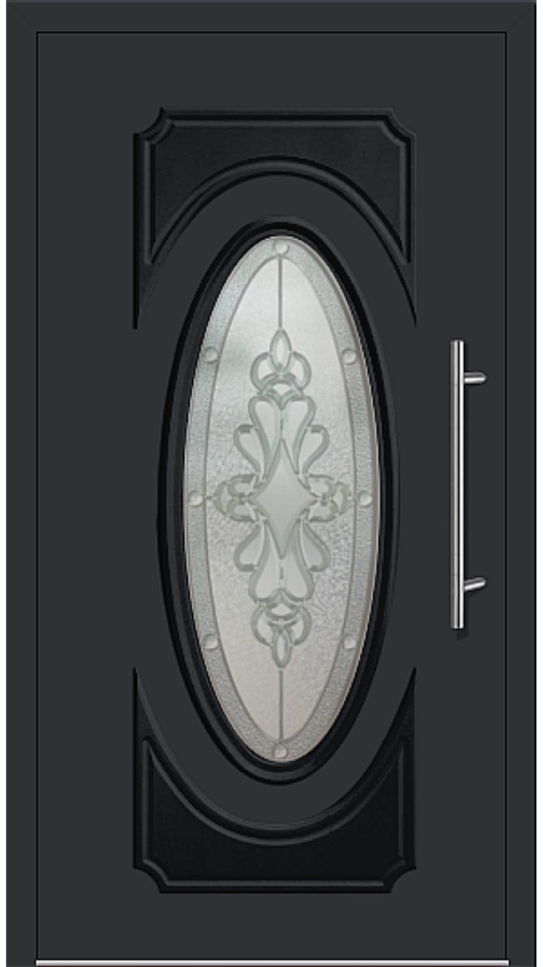 Aluminium Haustür Modell 331-11 schwarz
